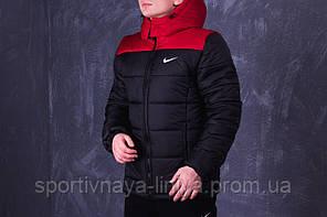 Мужская черная зимняя куртка Nike (реплика), фото 2