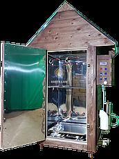 Коптильня 550л -холодного и горячего копчения, +просушка. Нержавейка внутри, крыша домиком, фото 3