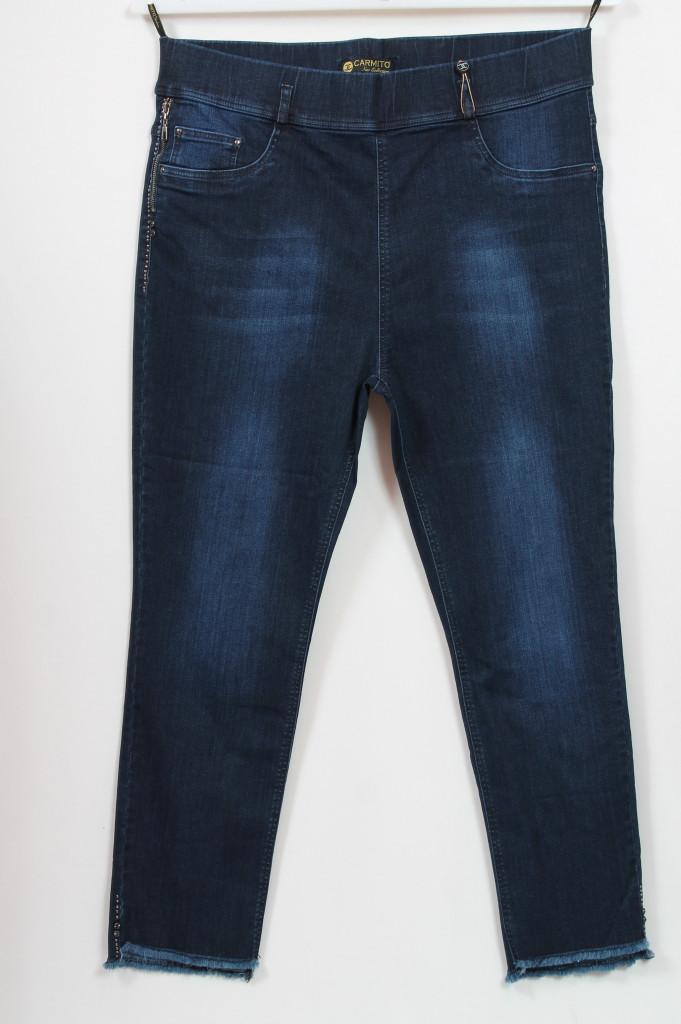 Классические женские джинсы на резинке, больших размеров