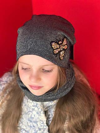 Детский набор  Шапка+ хомут в расцветках 870666, фото 2
