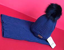 Детский зимний набор  шапка + хомут  в расцветках 870671, фото 3
