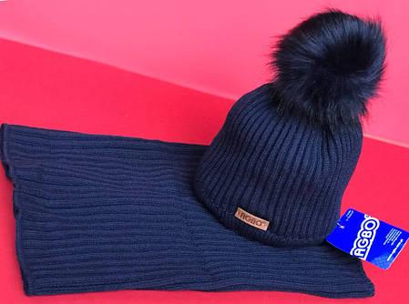 Детский зимний набор  шапка + хомут  в расцветках 870671, фото 2
