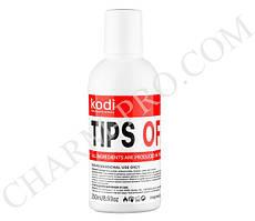 Жидкость для снятия искусственных ногтей Kodi Tips Off 250 мл.