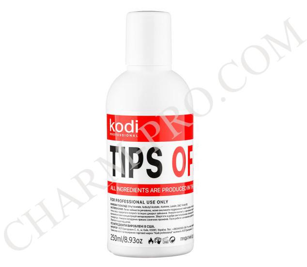 Жидкость для снятия искусственных ногтей Kodi Tips Off (250 мл)