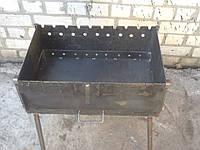 Мангал на10 шампуров из стали 3мм