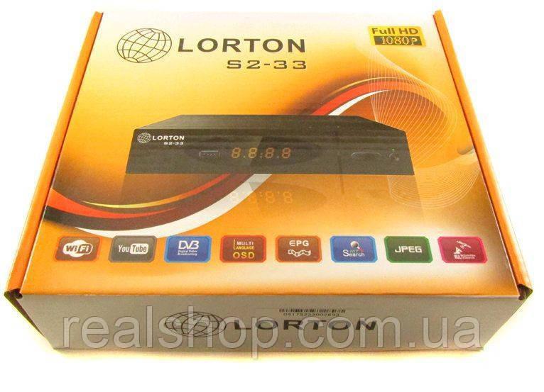 LORTON S2-33 HD ресивер  + бесплатная прошивка!
