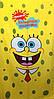 Полотенце пляжное Sponge Bob