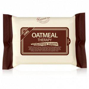 Calmia Салфетки для снятия макияжа Oatmeal Therapy Cleansing Tissue 20 шт