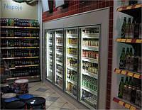Холодильная камера-витрина для магазинов, минимаркетов на АЗС
