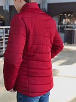 Мужской красный весенний пуховик (реплика), фото 2