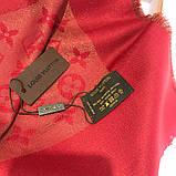 Платок, шаль Луи Витон красный с люрексом, фото 5
