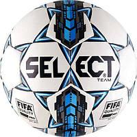 Мяч футбольный SELECT Team FIFA бело-синий, размер 5
