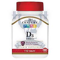 21 Century D3 25mcg (1000IU) витамин д3