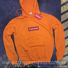 Худи Supreme с Вышивкой   Оранжевая кенгуру • Бирки ориг