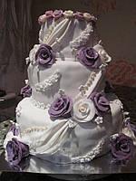 Бутафорский муляжный торт в мастике