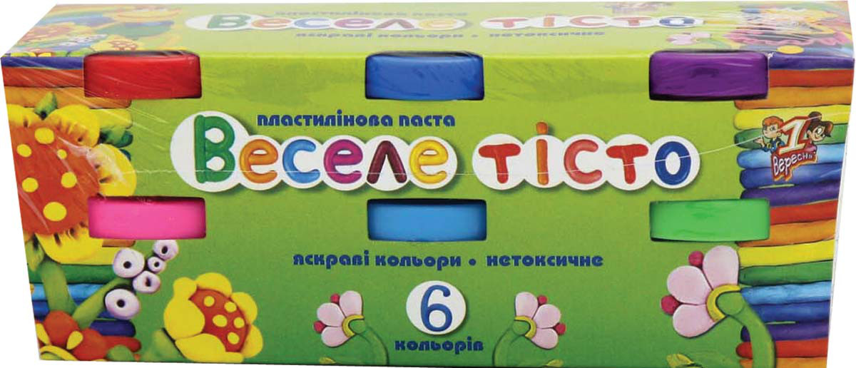 Пластилиновая паста Веселое тесто 6цв. 30гр. к/к