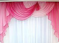 """Готовый ламбрекен """"Маркиза"""" (розовый), 2 м, фото 1"""