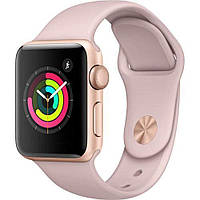 Apple Watch Series 3 GPS 42mm Gold Aluminum with Pink Sand Sport Band Gold  (MQL22 54e28619019ba