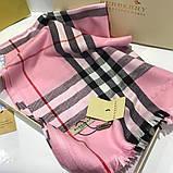 Палантин, шарф Барбері колір рожевий, фото 4