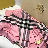 Палантин, шарф Барбері колір рожевий, фото 5