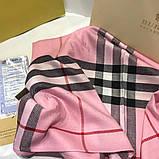Палантин, шарф Барбері колір рожевий, фото 2