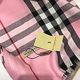 Палантин, шарф Барбері колір рожевий, фото 3