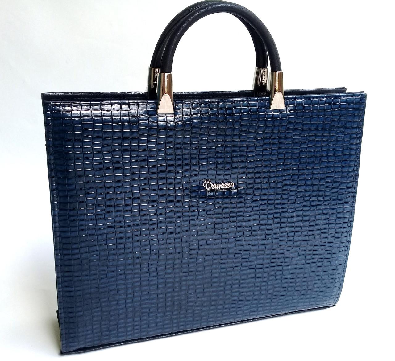 7e71136a1dde Женская сумка-портфель для документов и планшета Vanessa, рельефная ...