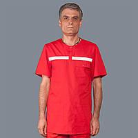 Сорочка червона чоловіча літня з накаткою ТМ