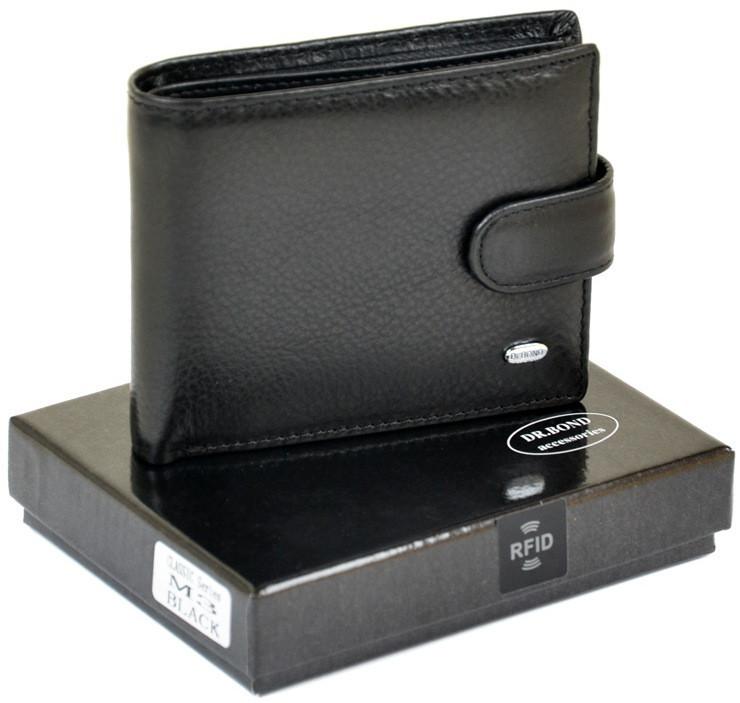 Мужской кожаный кошелек Dr.Bond с защитой от считывания данных