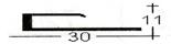 Алюмінієвий профіль для плитки ПЛ 212, фото 1