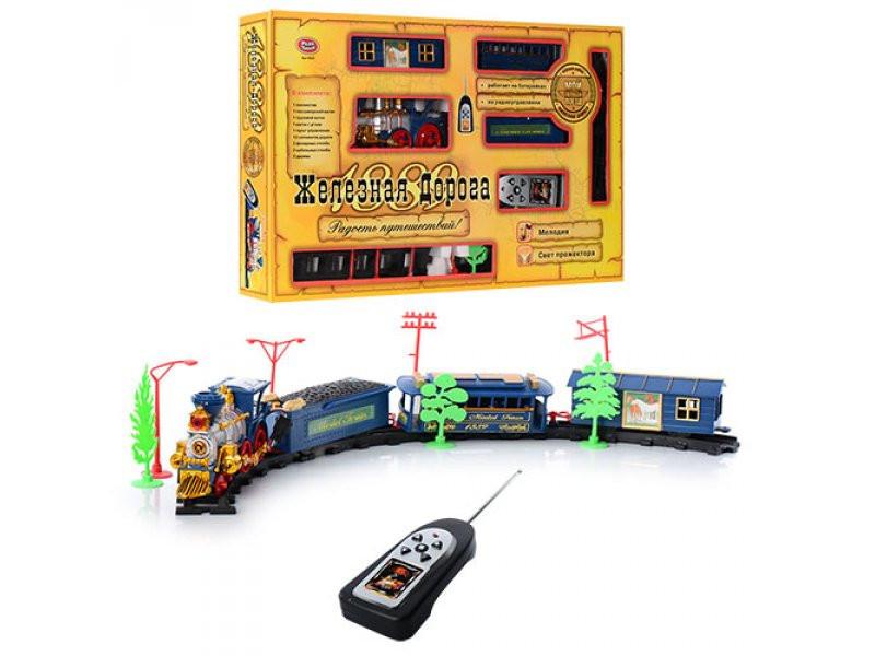 Залізниця JT 0620 / 40351 на радіокерування, музика, дим, в коробці, 53 см