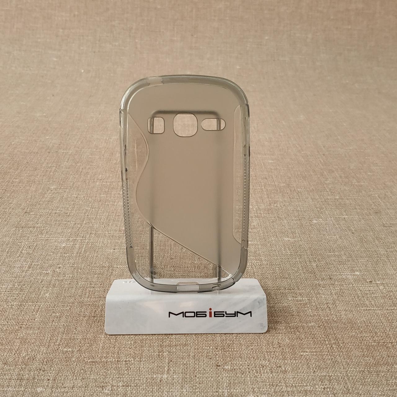 Чехол TPU Duotone Samsung Galaxy Fame grey (S6810)