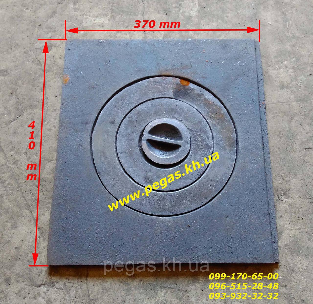 Плита чавунна (370х410 мм) печі, грубу, барбекю, мангал, котли