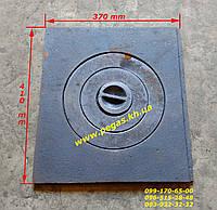 Плита чугунная (370х410 мм) печи, грубу, барбекю, мангал, котлы, фото 1