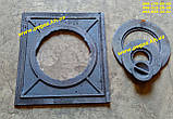 Плита чавунна (370х410 мм) печі, грубу, барбекю, мангал, котли, фото 3