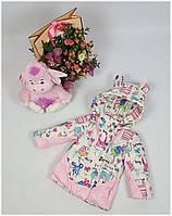 Курточка для девочки  670a весна-осень, размер 104 цвет без розовых вставок, фото 1