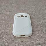 Чехол TPU Duotone Samsung Galaxy Fame [S6810] white, фото 3