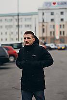 Мужская черная зимняя куртка (парка) Nike (реплика), фото 3