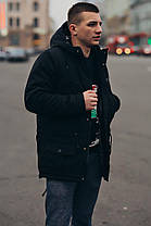 Мужская черная зимняя куртка (парка) Nike (реплика), фото 2