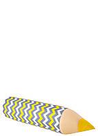 Карандаш-подушка зигзаг серо-желтый, фото 1