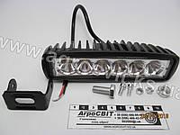 Фара светодиодная (прямоугольная) 18W, 6 ламп, 160х54 (узкий луч), кат. № DKB2-18W-ASL, фото 1