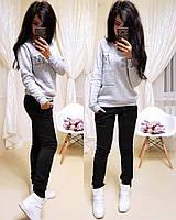 Костюм спортивный женский теплый на флисе, можно отдельно свитшот и штаны