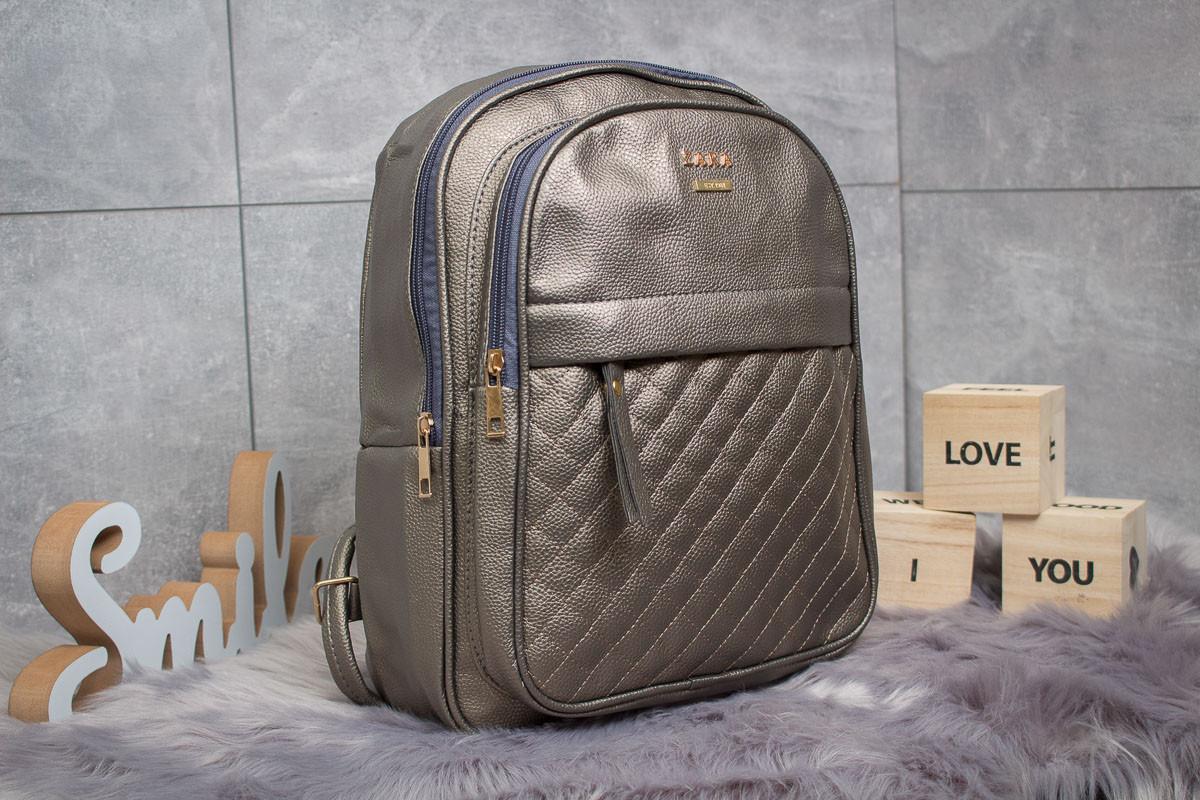 Рюкзак женские Zara, серебряные (90174),  [ 1  ]