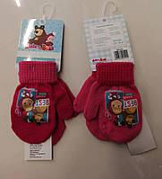 Рукавиці для дівчаток Маша і Ведмідь 2-6 років