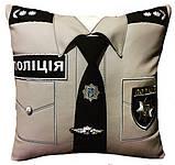 Сувенирная подушка подарочная Полиция, ДСНС, МВД и СБУ, фото 3
