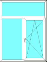Окно металлопластиковое 1.04*1.63