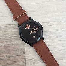 Наручные часы Gucci 1483 Brown-Black кварцевые, часы Гуччи, реплика, отличное качество!