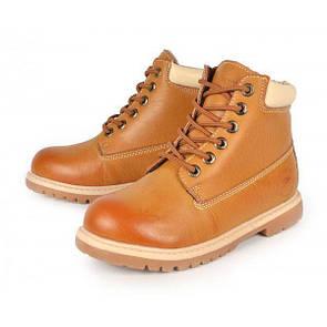 Ботинки женские зимние желтые эко-кожа «Каприз», Коричневый, 39