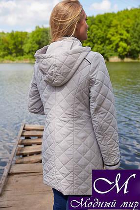 Женская демисезонная куртка большого размера (р. 48-66) арт. Адена св.беж, фото 2