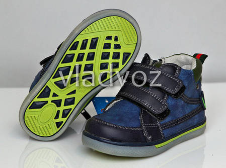 Детские демисезонные ботинки для мальчика синие 23р., фото 2